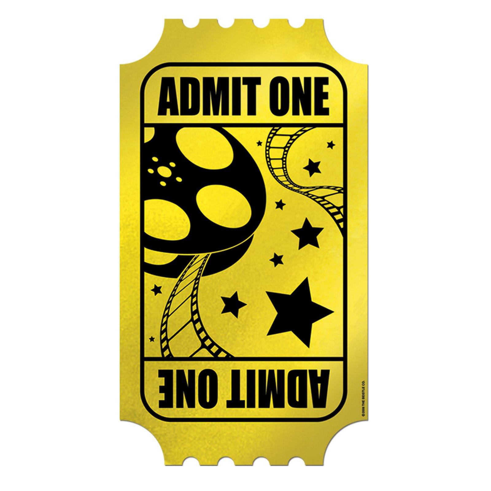 Blank Movie Ticket.