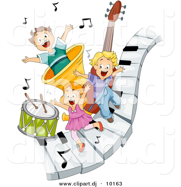 Clipart Of Musical Notes And Instruments.