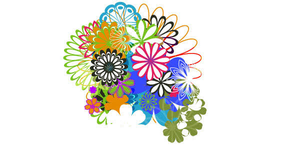 Vector Clip Art Flowers.