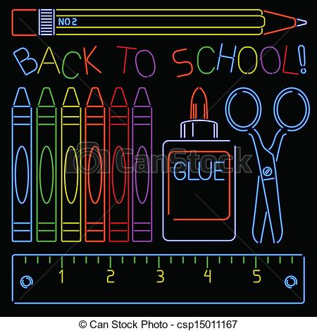 Clipart Of Neon For School Appropriate.