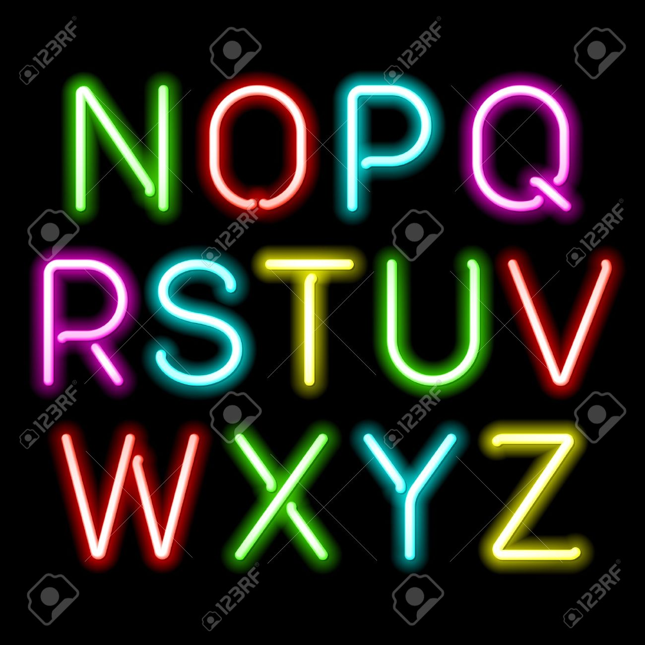 8,359 Neon Alphabet Cliparts, Stock Vector And Royalty Free Neon.