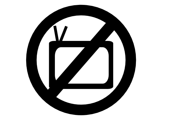 No Tv Clipart Black And White.
