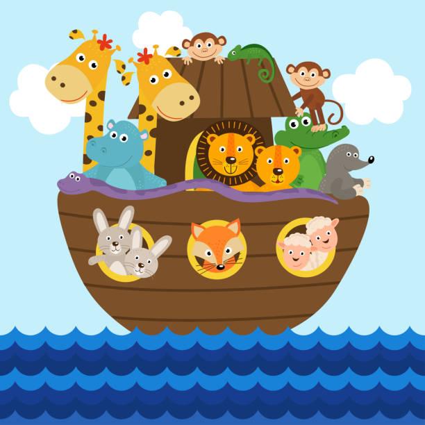 Best Noah Ark Illustrations, Royalty.