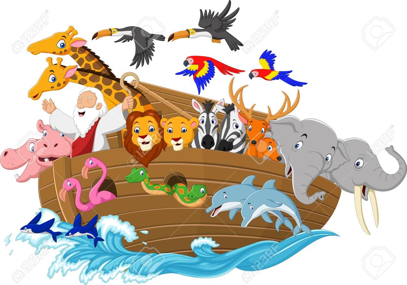 Vector illustration of Cartoon Noah's ark.