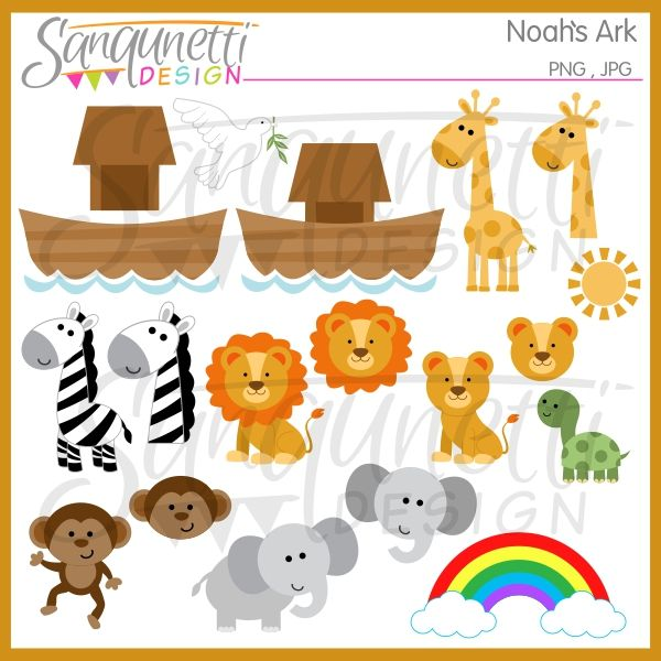 Noah's Ark Clipart: Sanqunetti Design: quality commercial use.