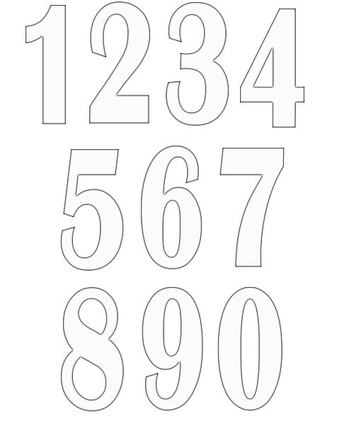 Free Numbers Clipart.