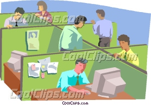Office Setting Clipart.