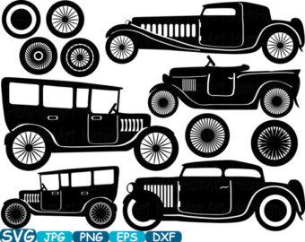 Svg files old car.