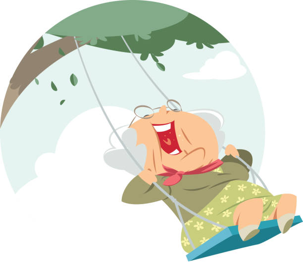 Best Old Woman Laughing Illustrations, Royalty.