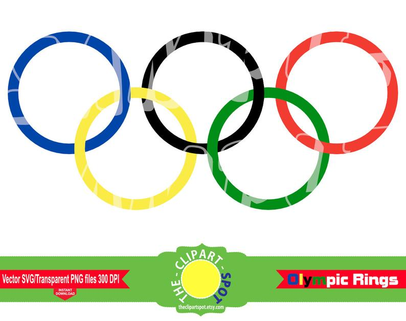 Olympics, Olympic rings, Olympic colors, Olympic Games Clipart, svg cut  files Commercial Personal Use Instant Download.
