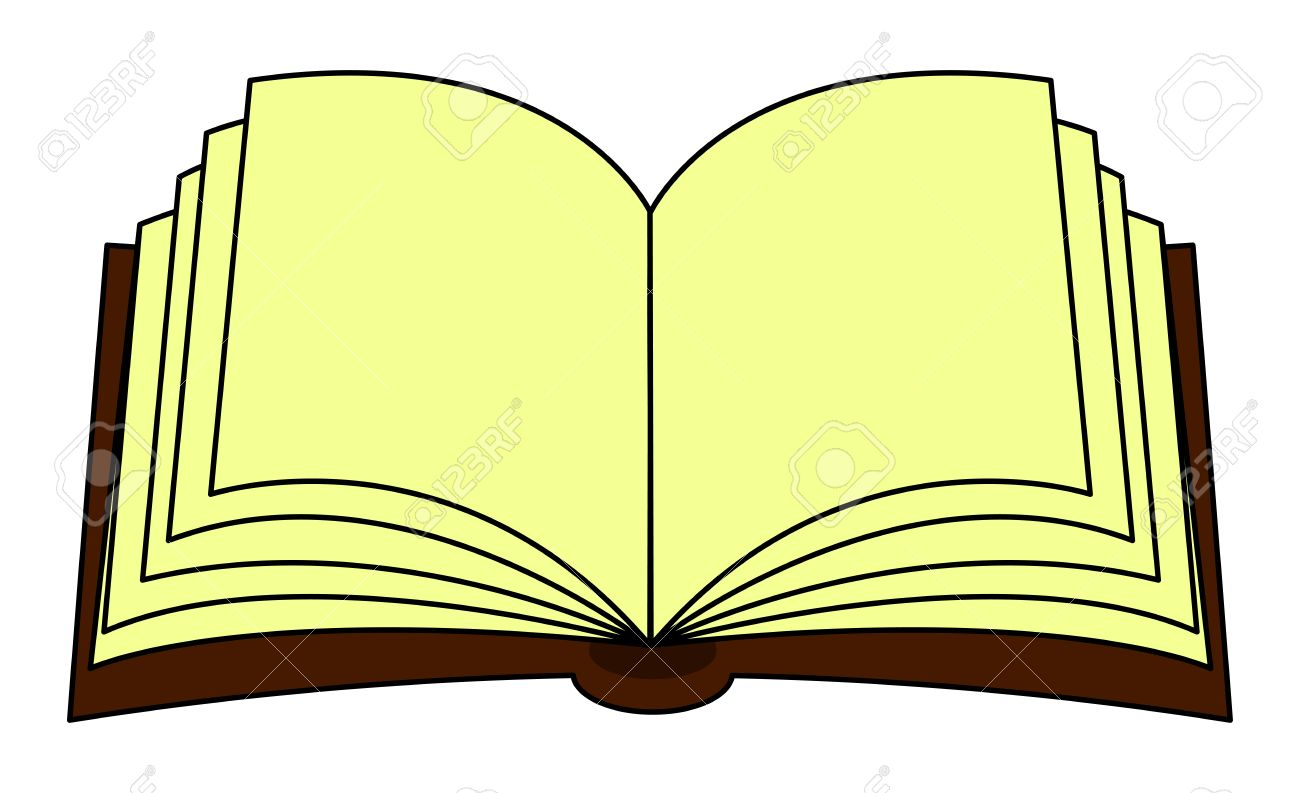Open Books Clipart Images.