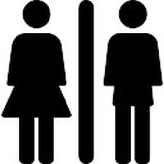 Toilet man women Icons.