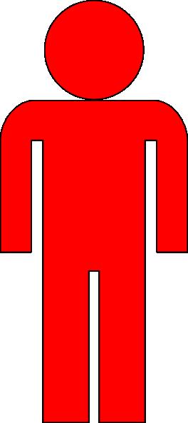 Outline Of Red Man Clip Art at Clker.com.