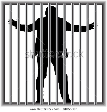 Prisoners Jail Vector Stock Vector 207797374.