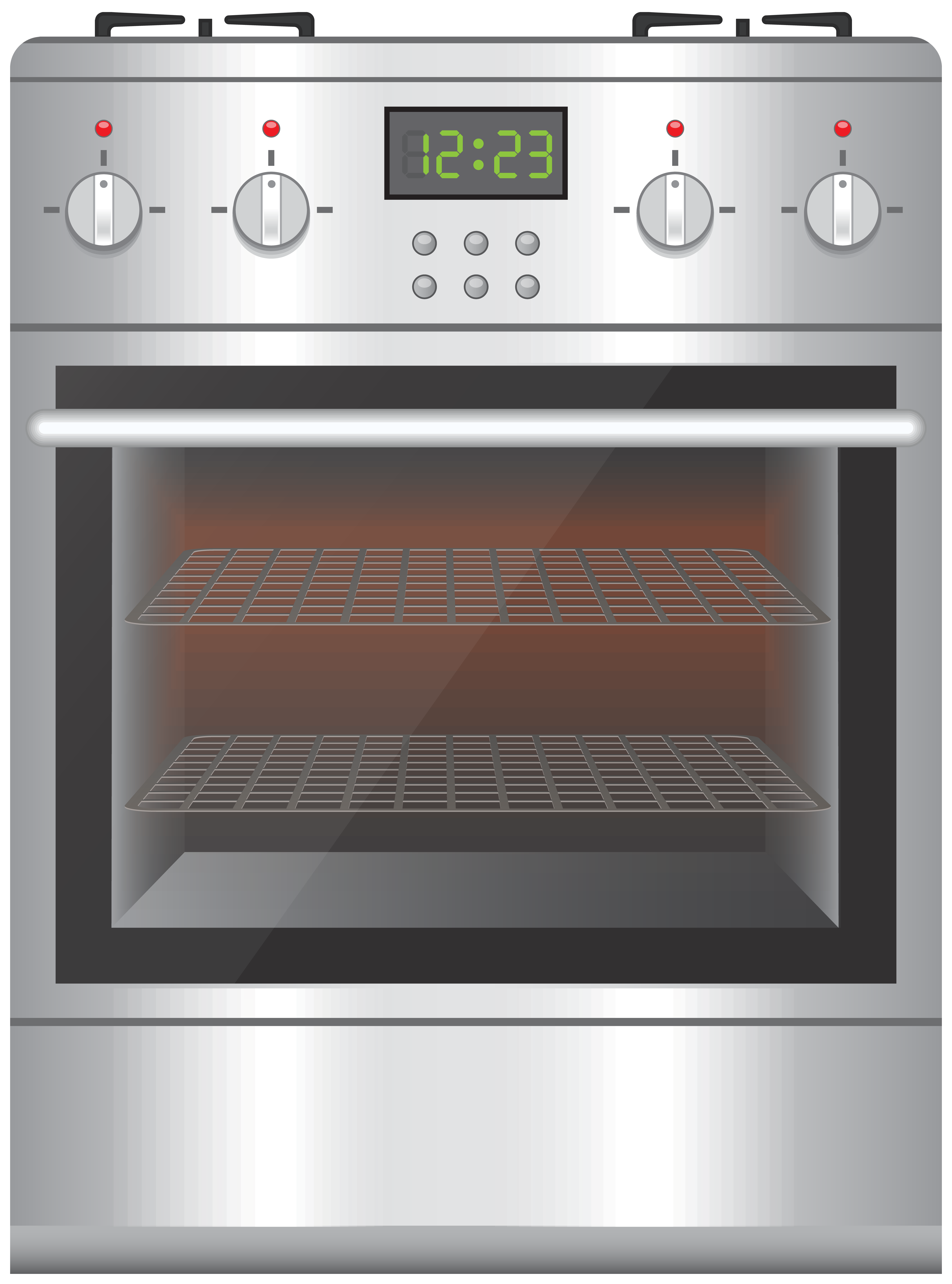 Gas Cooker With Oven PNG Clip Art.