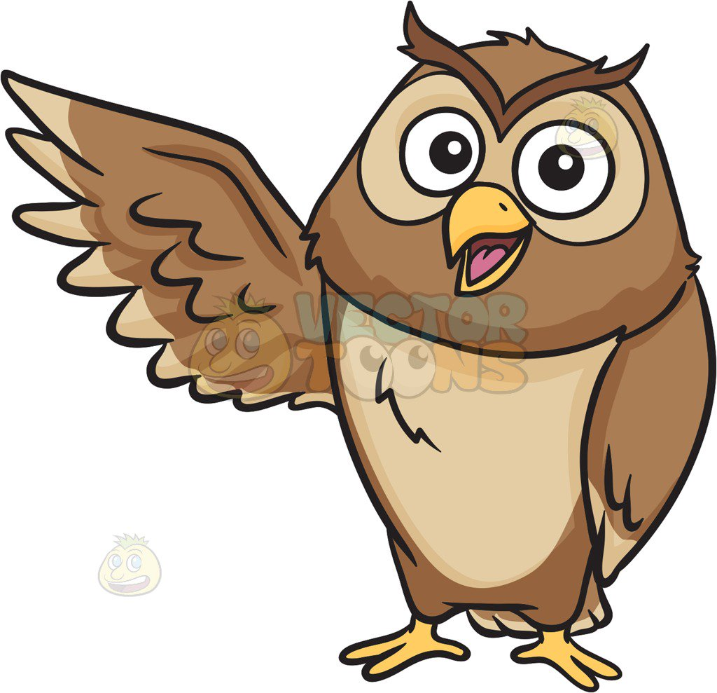 Cartoon Owl Clipart 8.