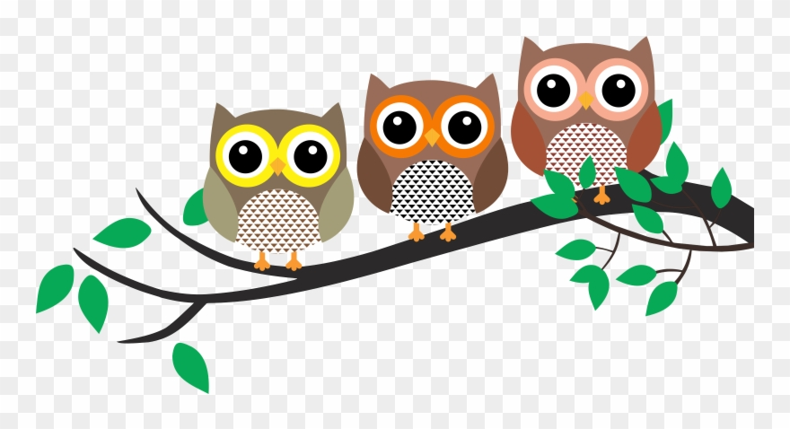 Owl In A Tree Clipart.