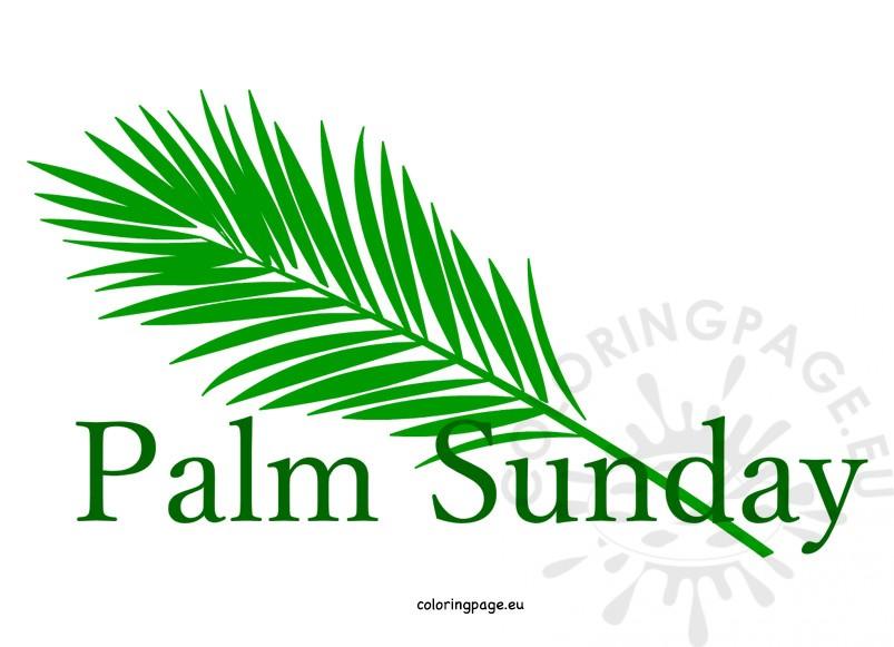 312 Palm Sunday free clipart.