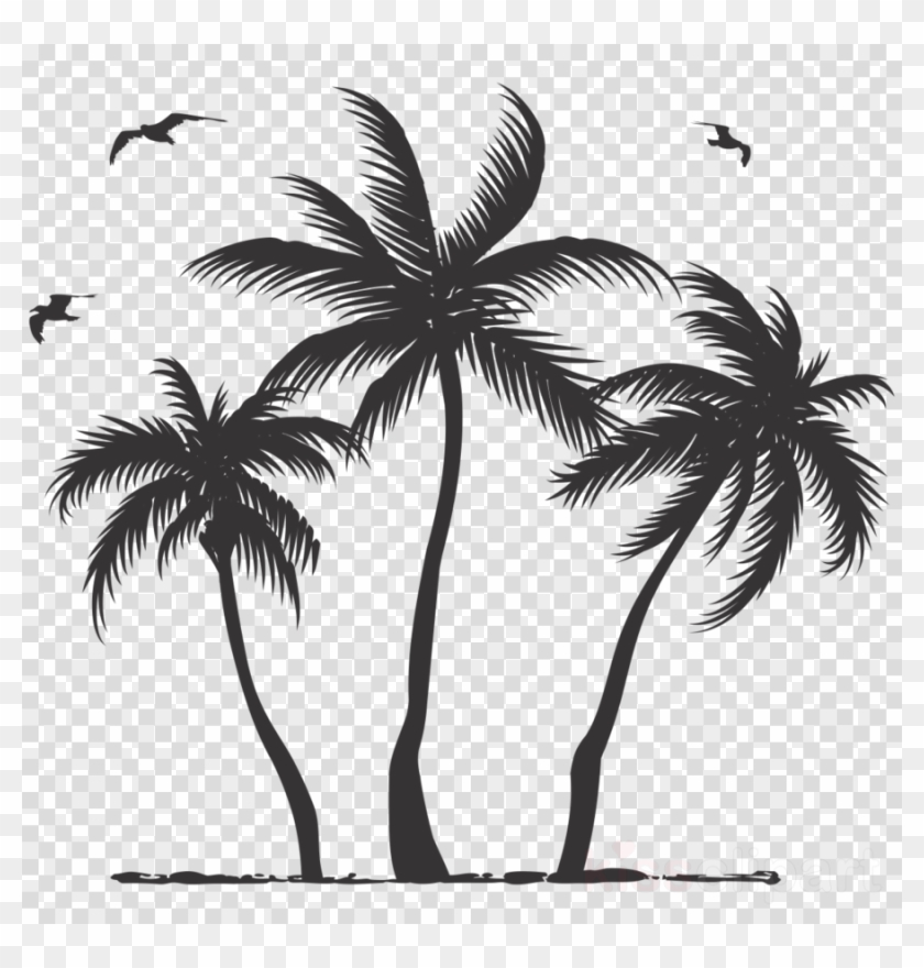 Download Palm Tree Silhouette Clipart Palm Trees Clip.