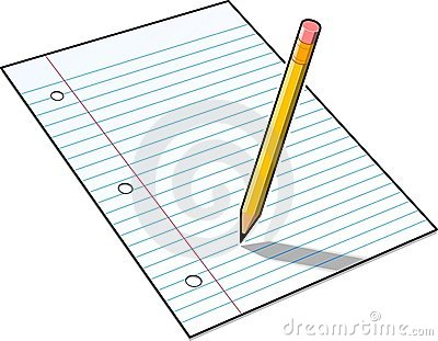 Pencil And Paper Clipart Clean Present 14.