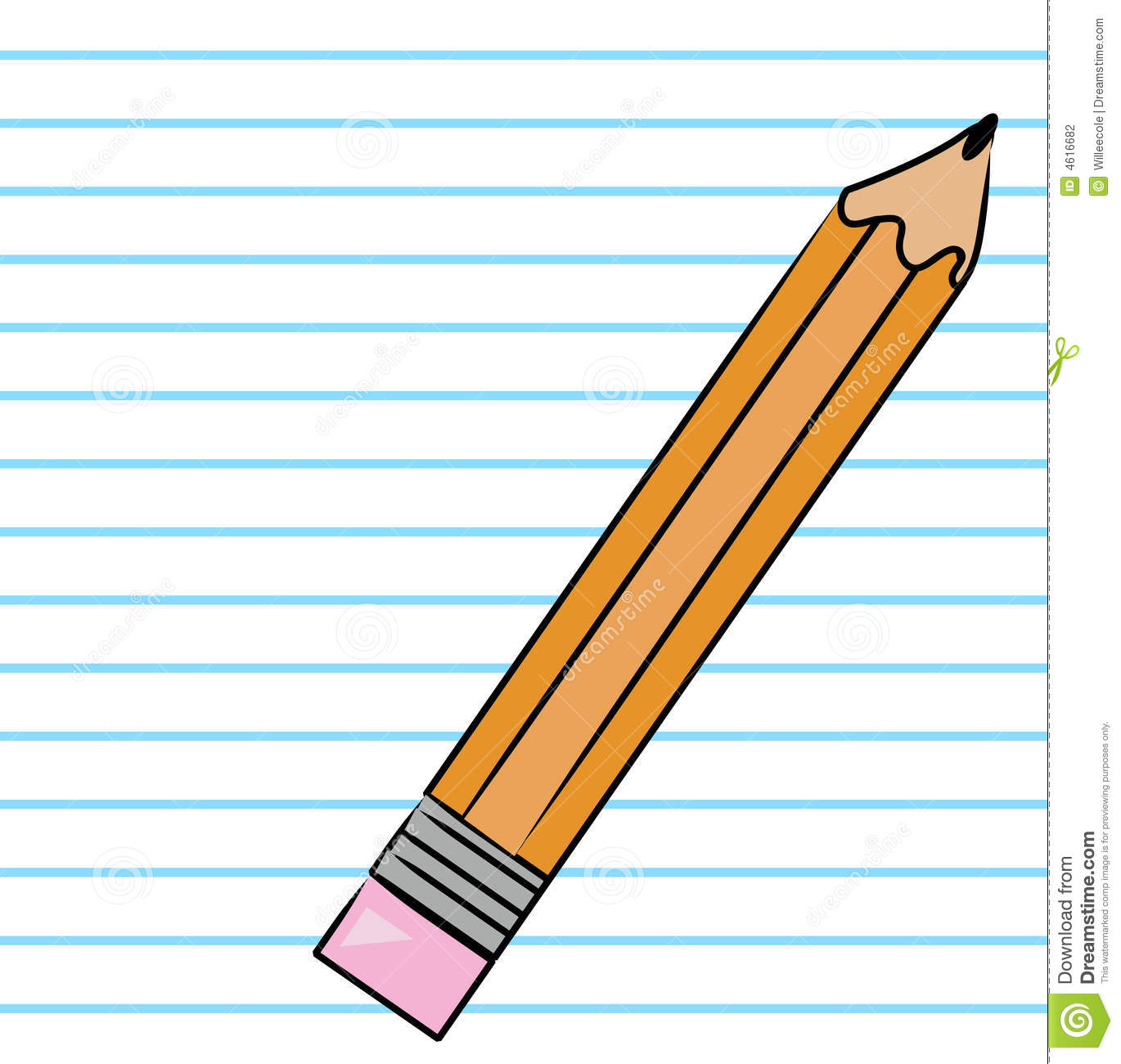 Pencil And Paper Clipart.