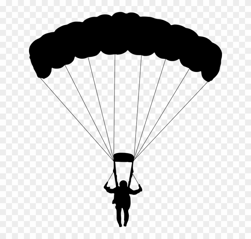 Parachuting, Parachute, Glide, Falling, Sky Diving,.