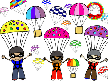 Skydiving & Parachute Clipart (Personal & Commercial Use).