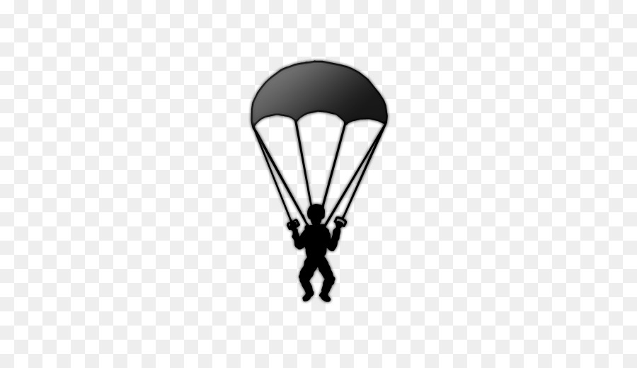 Parachute Silhouette png download.
