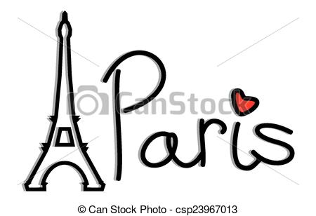 Vector Clip Art of Paris.