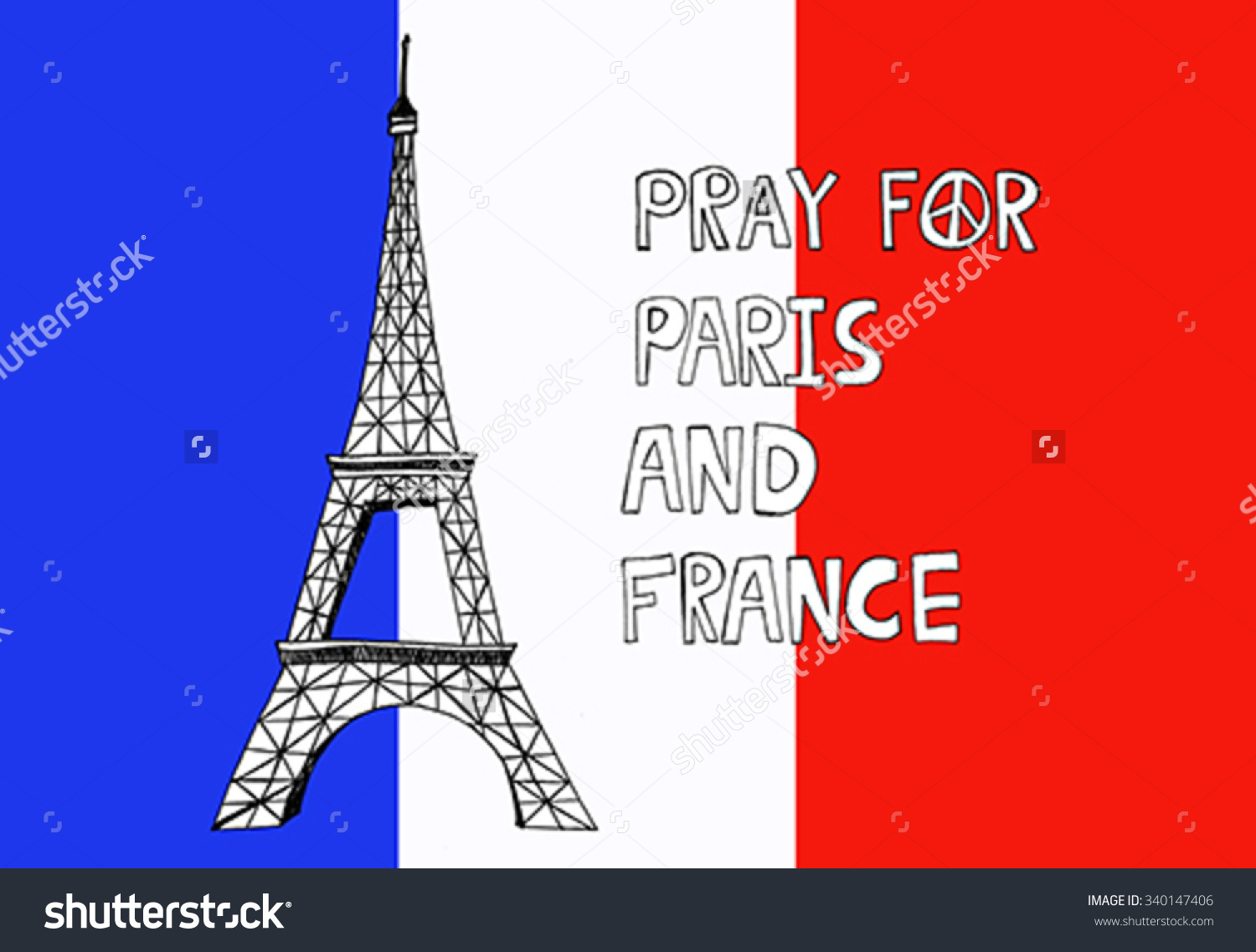 Pray For Paris With Eiffel Tower With. Tribute To Victims Of.