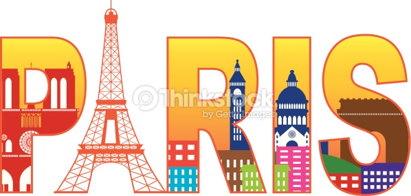 Paris France Clipart.