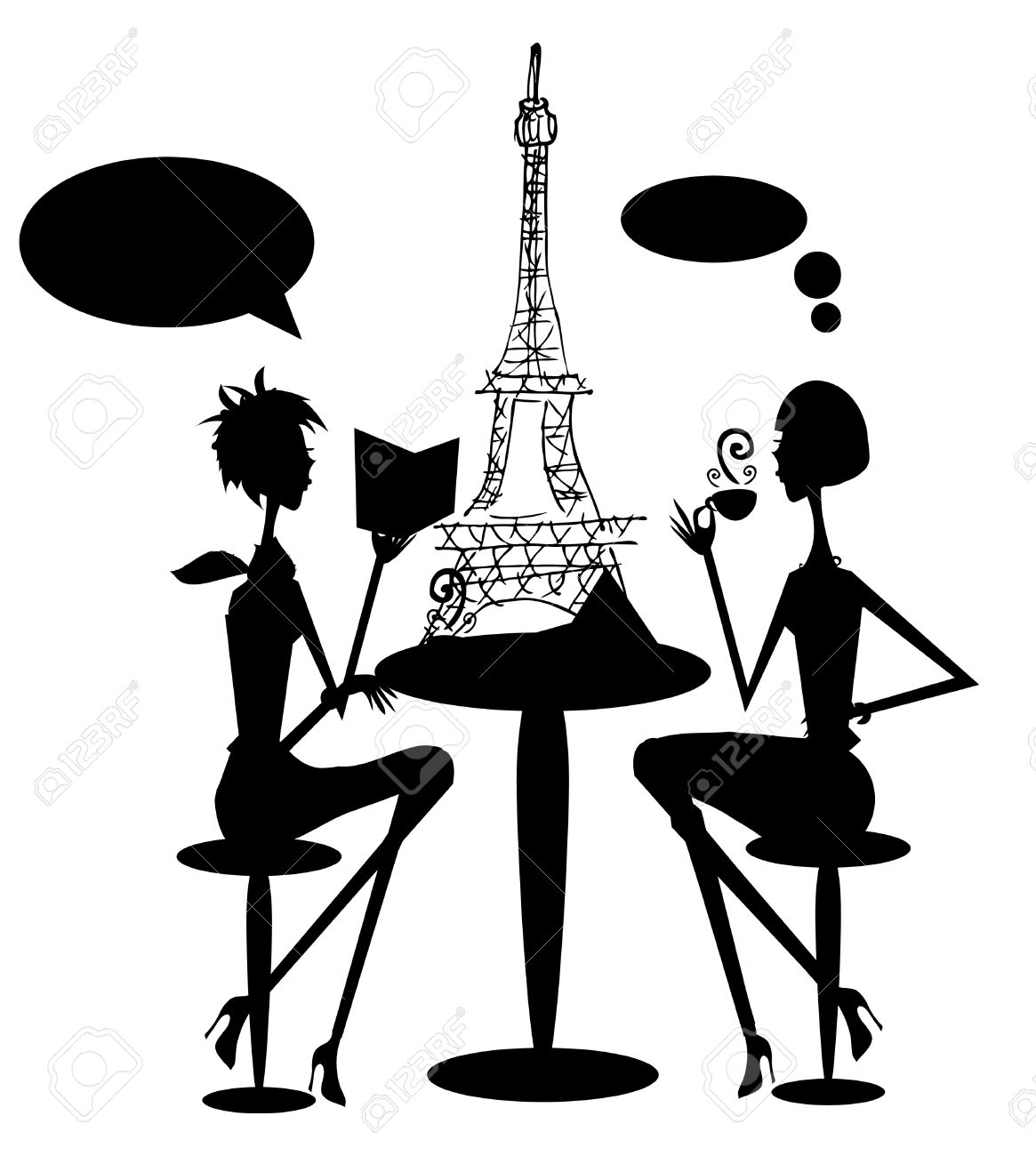 Paris France Clipart Background.