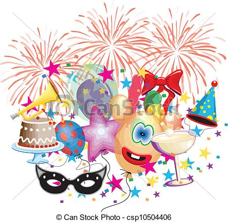 Vector Clipart of Party and celebration event background.