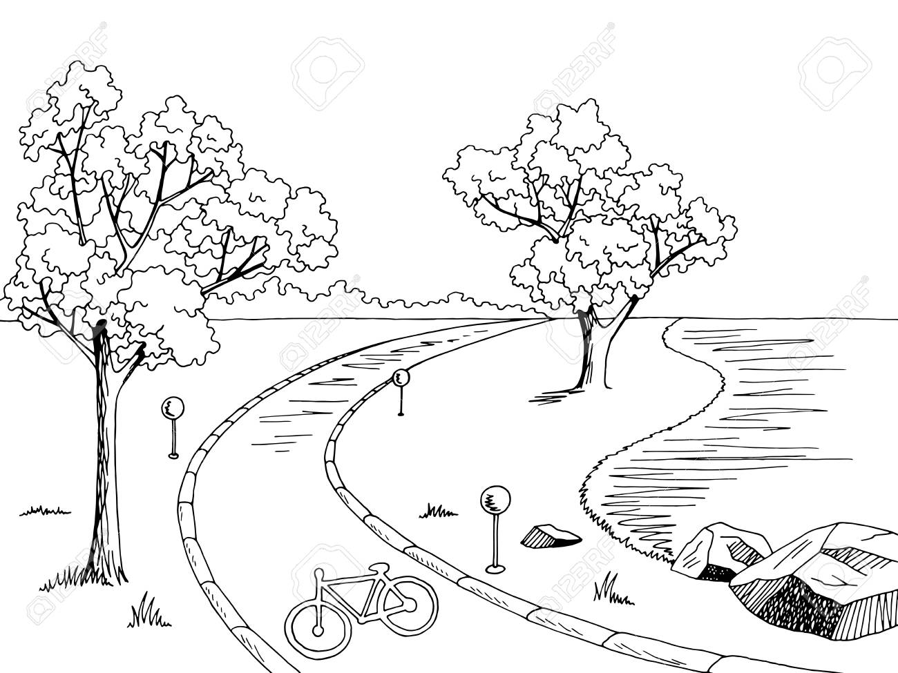 Path clipart black and white 2 » Clipart Station.