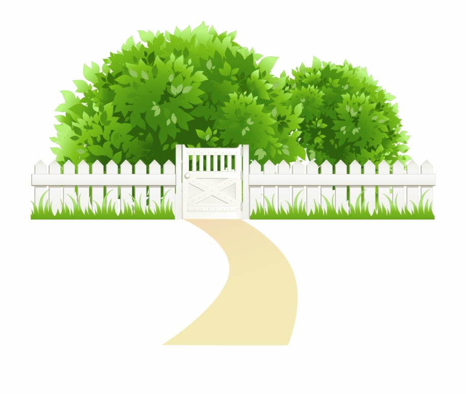 Path With Fence And Trees Transparent Png Clipart.