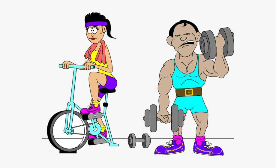 Fitness Clipart Exercise Routine.