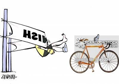 Bike Riding Cartoons and Comics.