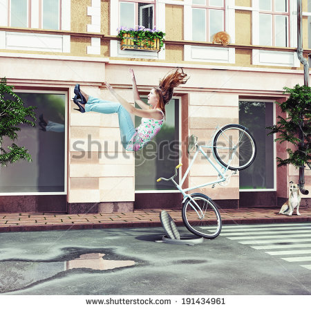 Woman Falling Stock Images, Royalty.