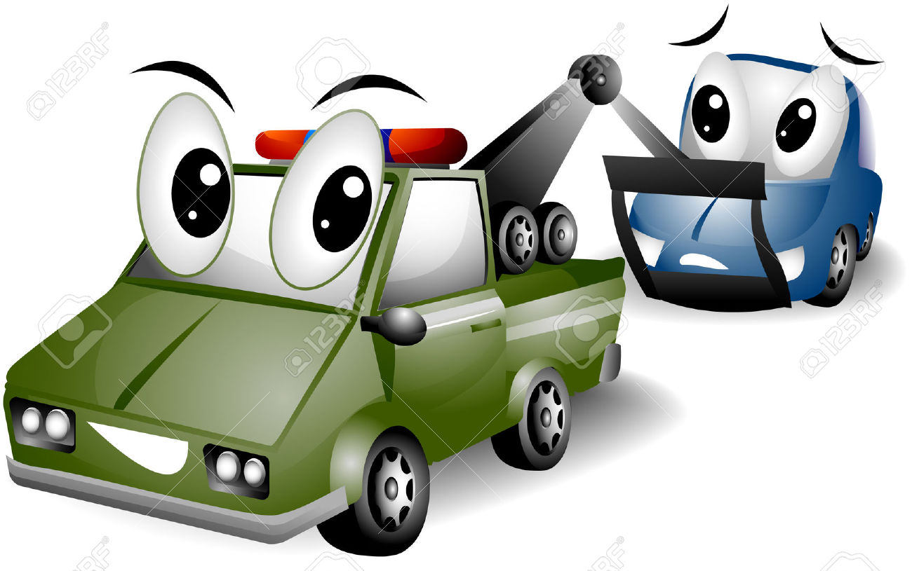 clipart of people getting hit by car #4
