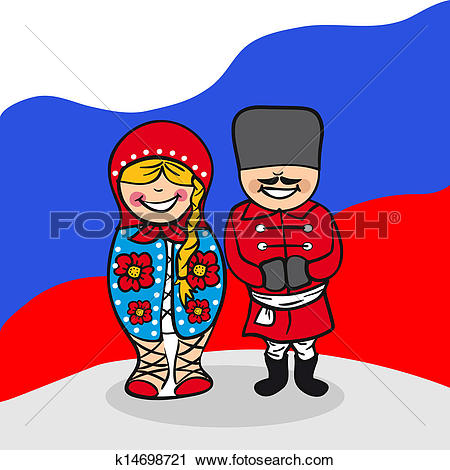 Clipart of Welcome to Russia people k14698721.
