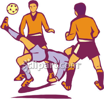 Clipart Of People Playing Football.