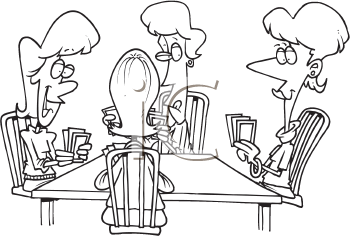Clipart of people playing shmear.