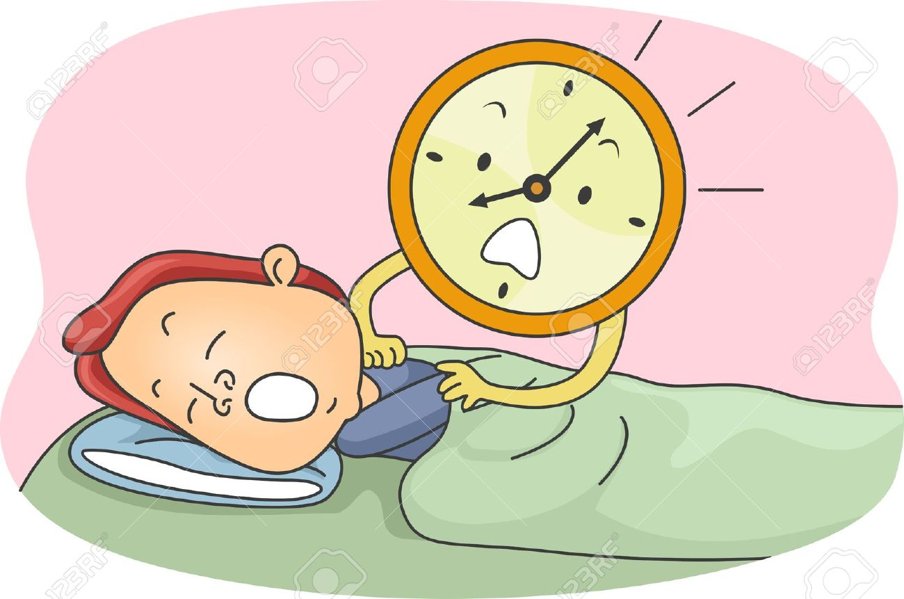 Clipart Of People Setting Their Clocks.
