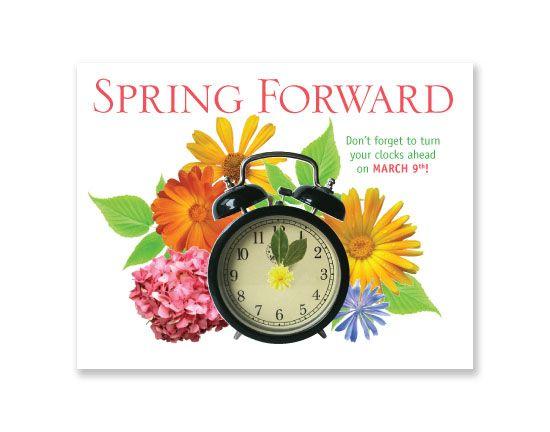 Spring Ahead Clipart.
