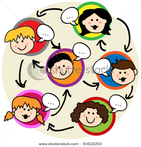 Kids Socializing Clipart.