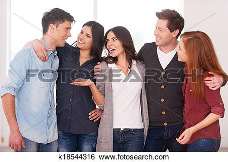 Stock Images of Successful team. Group of cheerful young people.