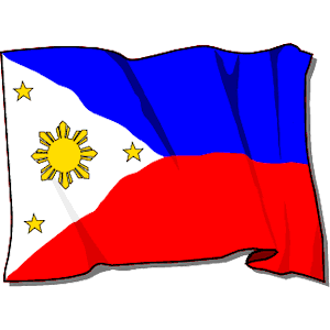 School With Philippine Flag Clipart.
