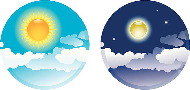 Library of day night vector royalty free png files.