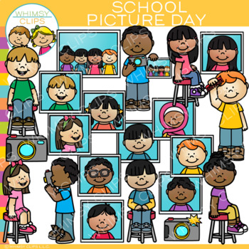 School Picture Day Clip Art {School Photographs Clip Art}.