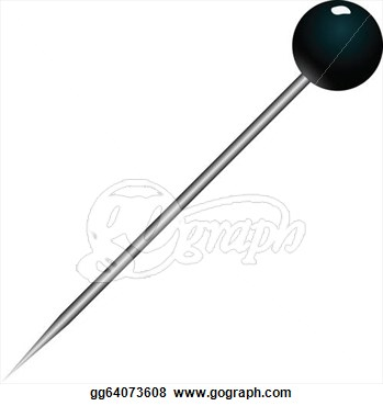 Pin clipart black and white 7 » Clipart Station.